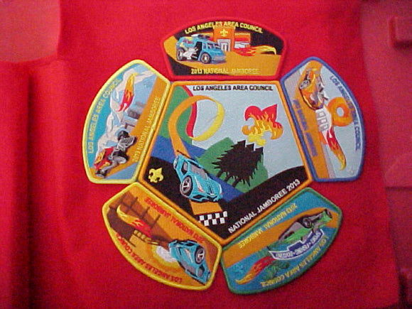 2013 National Jamboree 5 Shoulder patches + Jacket patch set