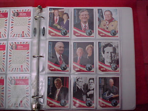 2013 NJ Trading Cards. Complete set of 100. Includes plastic pages for display.