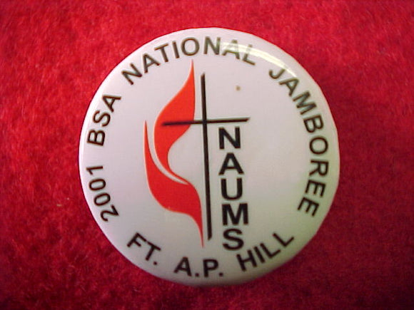 2001 pin back button, national association of united methodist scouters