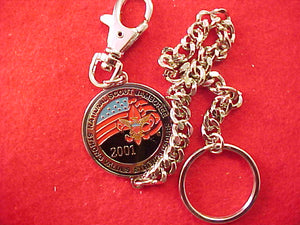 2001 key chain/watch fob w/ nj emblem