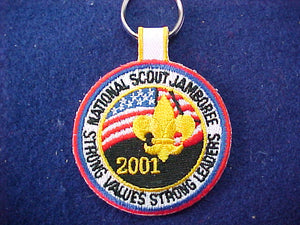 2001 keychain, embroidered