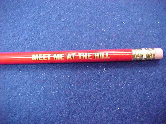 2001 pencil, jumbo size, meet me at the hill, 7.5x.375, unsharpened