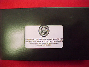 2001 vcr tape, george w. bush's address to the 2001 nj (pre-recorded & shown to participants on 7/30/01