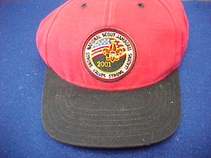 2001 baseball cap, staff, mint