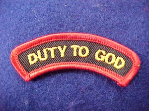 2001 activity segment, duty to God