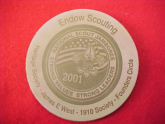 2001 patch, leather, endow scouting