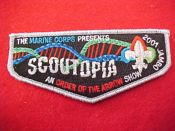 2001 pocket flap, marine corps, scoutopia, order of the arrow