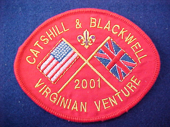 2001 patch, catshill & blackwell virginian venture contigent, usa/great britain