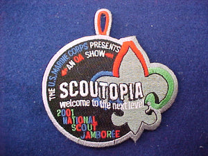 2001 pocket patch, scoutopia, u.s. marine corps/order of the arrow show