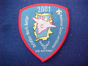 2001 patch, aviation merit badge, staff, u.s. air force