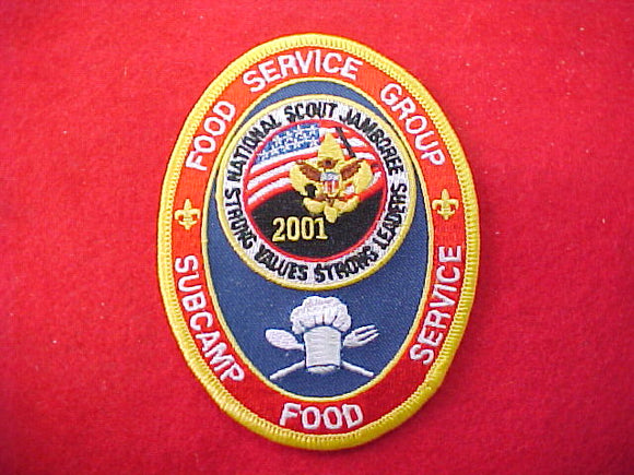 2001 patch, food service group, subcamp food service