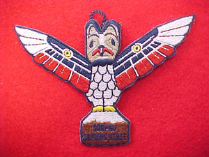 2001 patch, wood carving, staff