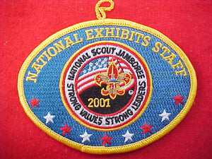2001 patch, national exhibits, staff