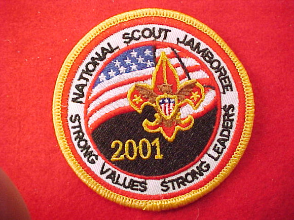 2001 pocket patch, official issue, adult participant, yellow border
