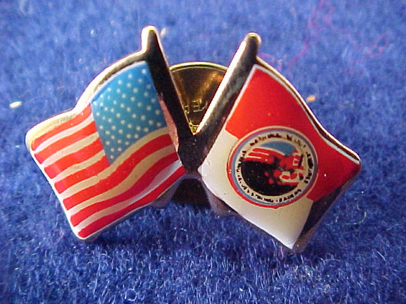 2001 pin, usa/2001 bsa flag