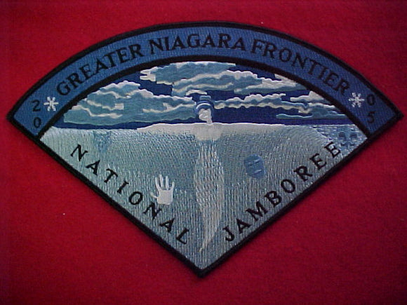 2005 NJ neckerchief, greater niagara frontier council, pie shape, 9.25
