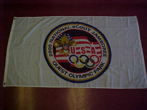 2005 NJ flag, quest olympic park, 34.5 x 60, mint