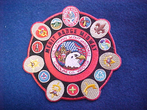 2005 NJ patch, merit badge midway, red mylar bdr.
