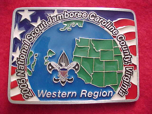 2005 NJ BELT BUCKLE, WESTERN REGION STAFF, #204 OF 1800 MADE