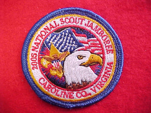 "2005 NJ pack patch, 2.5"" diameter (official pocket patch is 3"" diameter) slight use, rare"