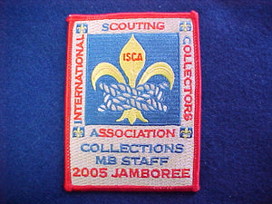 2005 NJ patch, collections merit badge staff, red bdr.