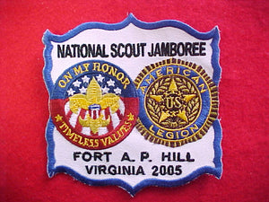 2005 NJ patch, american legion staff