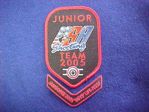 2005 NJ patch set, junior USA shooting team & boys' life NSSF chevron