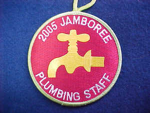 2005 NJ patch, plumbing staff, YELLOW FAUCET