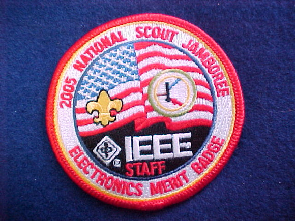 2005 NJ patch, electronics merit badge staff