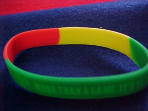 "2005 NJ wristband, rubber, ""12-3 more than a game, its your life"""