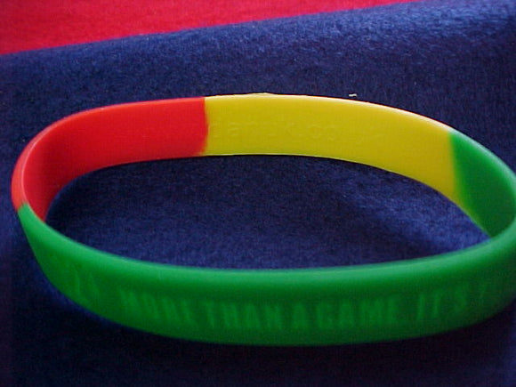 2005 NJ wristband, rubber,