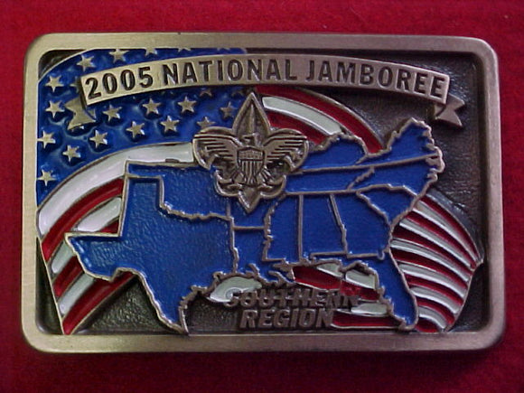 2005 NJ belt buckle, southern region, staff, serial numbered, issued 1 per staff member