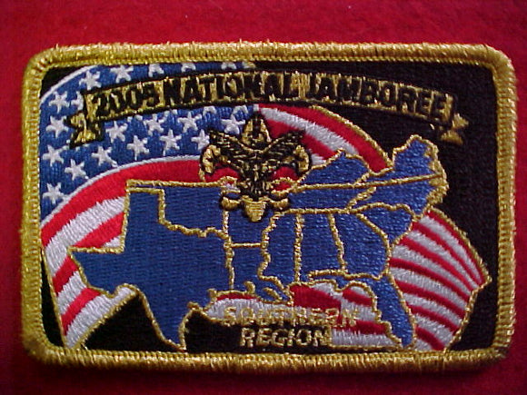 2005 NJ patch, southern region, staff, gold mylar bdr.