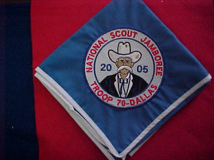 2005 NJ neckerchief, troop 70, dallas, mint