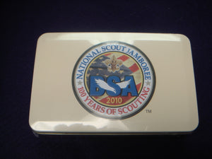 2010 NJ Tin With 10 Postcards of Jambo Inside