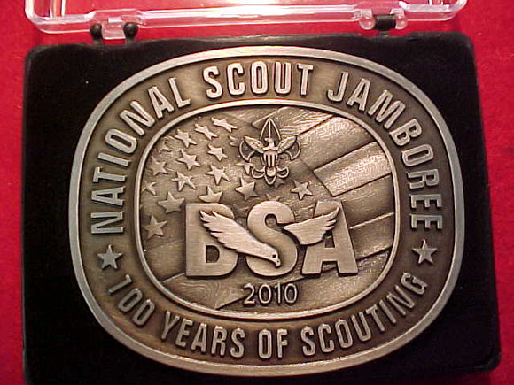 2010 NJ BELT BUCKLE, PEWTER, MINT IN BOX