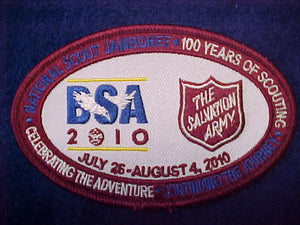 2010 nj, salvation army patch