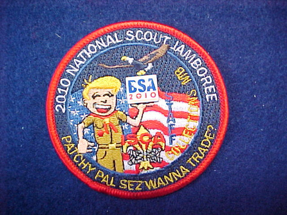 2010 nj, collections merit badge, ISCA staff patch, red border