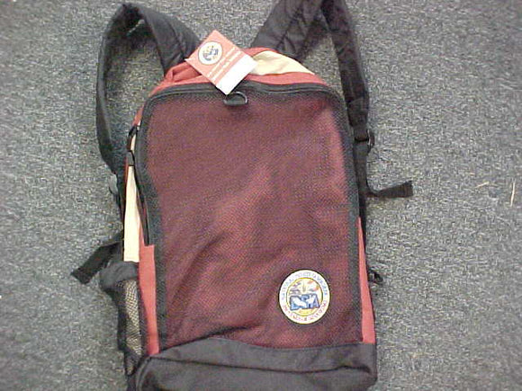 2010 NJ BACKPACK, CANVAS & MESH W/ PADDED BACK, MINT W/ ORIG TAG