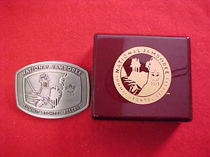 2013 NJ BELT BUCKLE, LIMITED ADDITION, BOXED, SERIAL NUMBERED, PEWTER