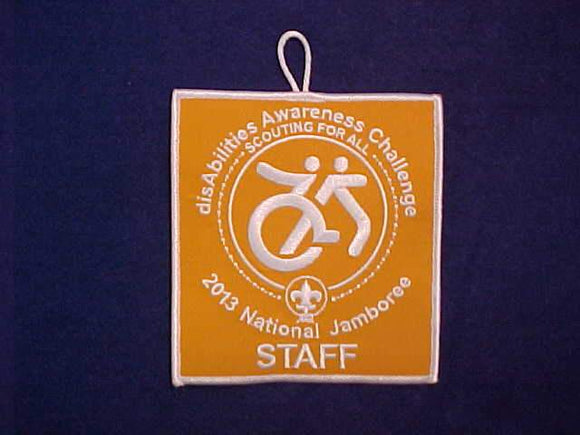 2013 NJ PATCH, DISABILITIES AWARENESS CHALLENGE, STAFF