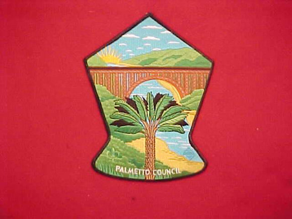 2013 NJ JACKET PATCH, PALMETTO COUNCIL, BLACK BORDER, 7.25X5.75