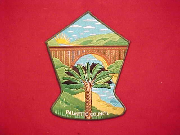 2013 NJ JACKET PATCH, PALMETTO COUNCIL, GREEN BORDER, 7.25X5.75