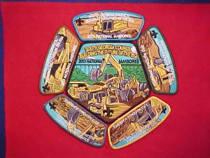 2013 NJ PATCH SET, SOUTH GEORGIA COUNCIL, JACKET PATCH+5 JSP'S