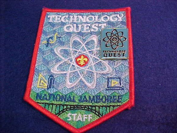 2013 NJ PATCH + PIN, TECHNOLOGY QUEST, RED BDR.