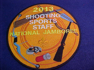 "2013 NJ JACKET PATCH, SHOOTING SPORTS STAFF, 6"" ROUND"