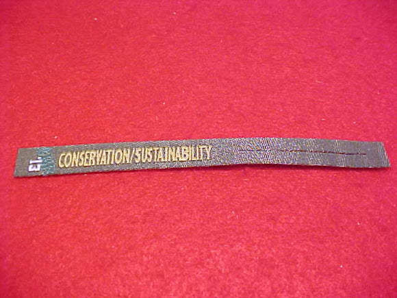 2013 NJ PATCH RIBBON,SUMMIT CHALLENGE, CONSERVATION/SUSTAINABILITY