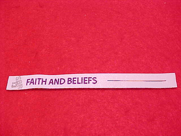2013 NJ PATCH RIBBON,SUMMIT CHALLENGE, FAITH AND BELIEFS