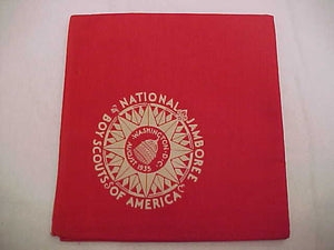 1935 NJ RED FULL SQUARE NECKERCHIEF, BOYS ISSUE, MINT CONDITION