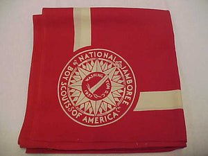 1937 NJ RED FULL SQUARE NECKERCHIEF, BOYS ISSUE, MINT